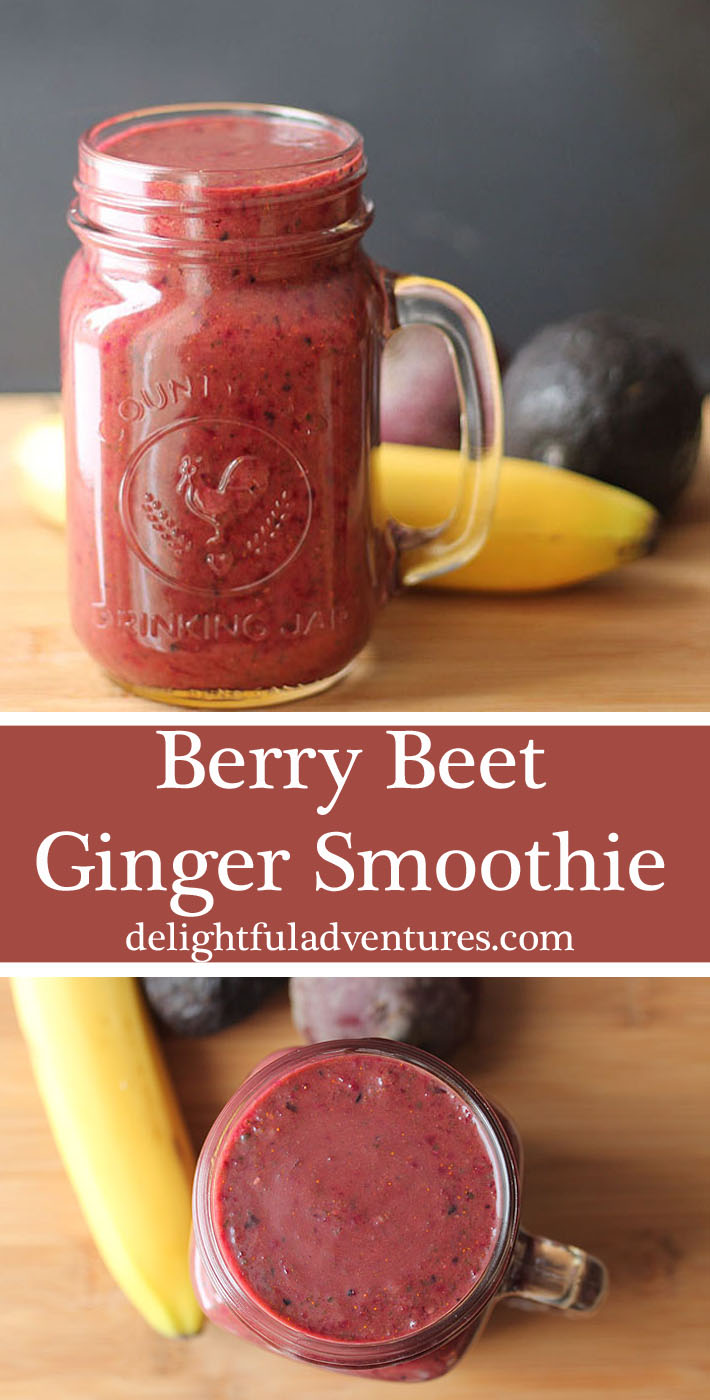 Kick-start your day with this berry beet ginger smoothie — a healthy blend of fruits and  vegetables with a little