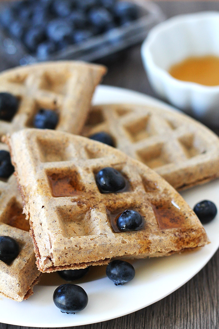 Look no further, this recipe for easy vegan gluten free waffles is exactly what you've been looking for! Crispy on the outside and soft and fluffy on the inside. #veganwaffles #glutenfreewaffles #veganglutenfreewaffles #veganglutenfree