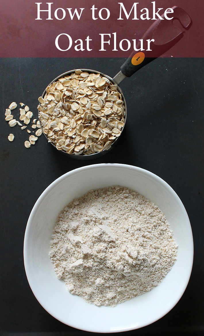 There's no need to buy expensive oat flour at the store because it's simple to make yourself! Here's how to make homemade oat flour at home.