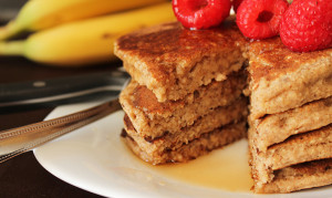 A vegan gluten free twist on your favourite pancakes, Banana Oat Pancakes.