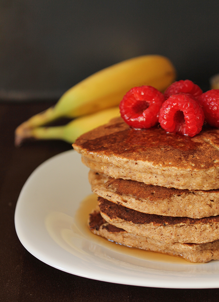 Looking for a vegan gluten free pancake recipe you'll love? These Banana Oat Pancakes will fit the bill!