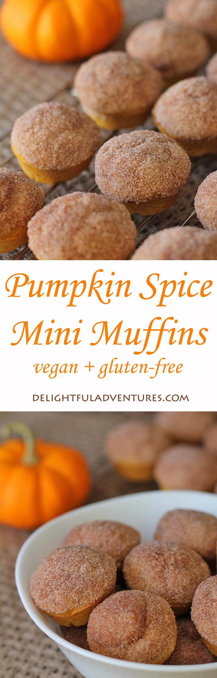 Pumpkin Spice Mini Muffins (vegan + gluten-free)