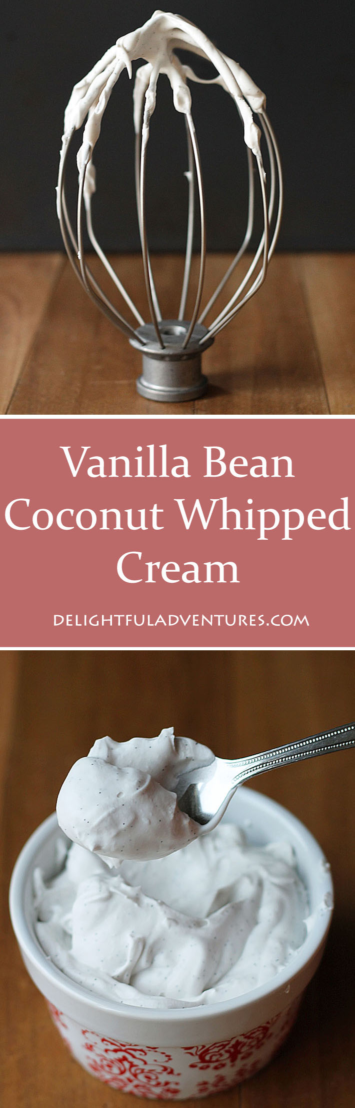 Try this decadent, creamy, dairy-free vanilla bean coconut whipped cream as a delicious (and better!) replacement for regular whipped cream.