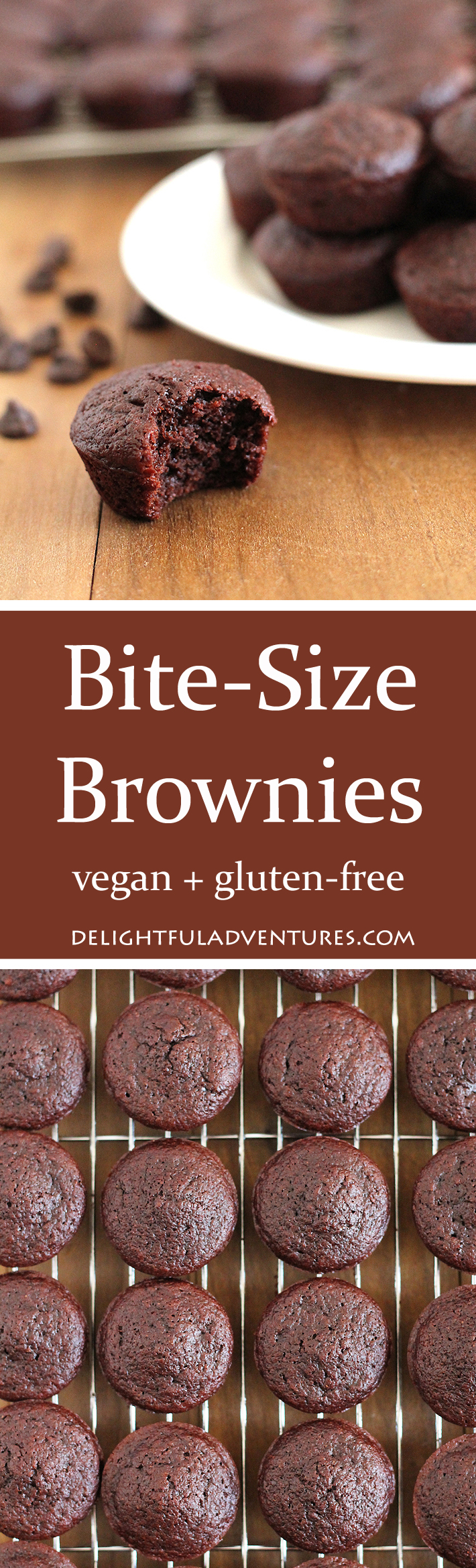 What do you do when you're craving something sweet but you just want a little treat? You make these delicious, vegan gluten free bite-size brownies!