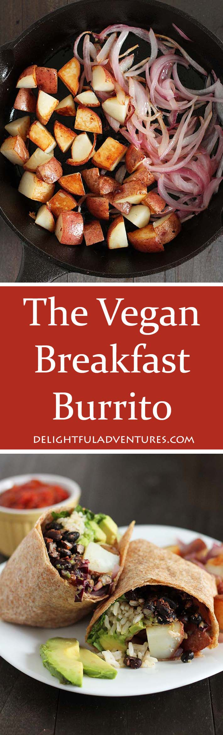 Burritos aren't only for lunch and supper, have them for breakfast too! This vegan breakfast burrito recipe is loaded with filling ingredients and will become a new favourite!