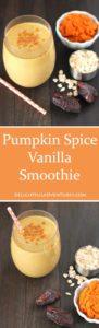 Looking for a healthier version of your favourite coffee drink? Look no further, you've got to try this nutritious, vegan pumpkin spice vanilla smoothie! #SilkSummerofSmoothies #ad