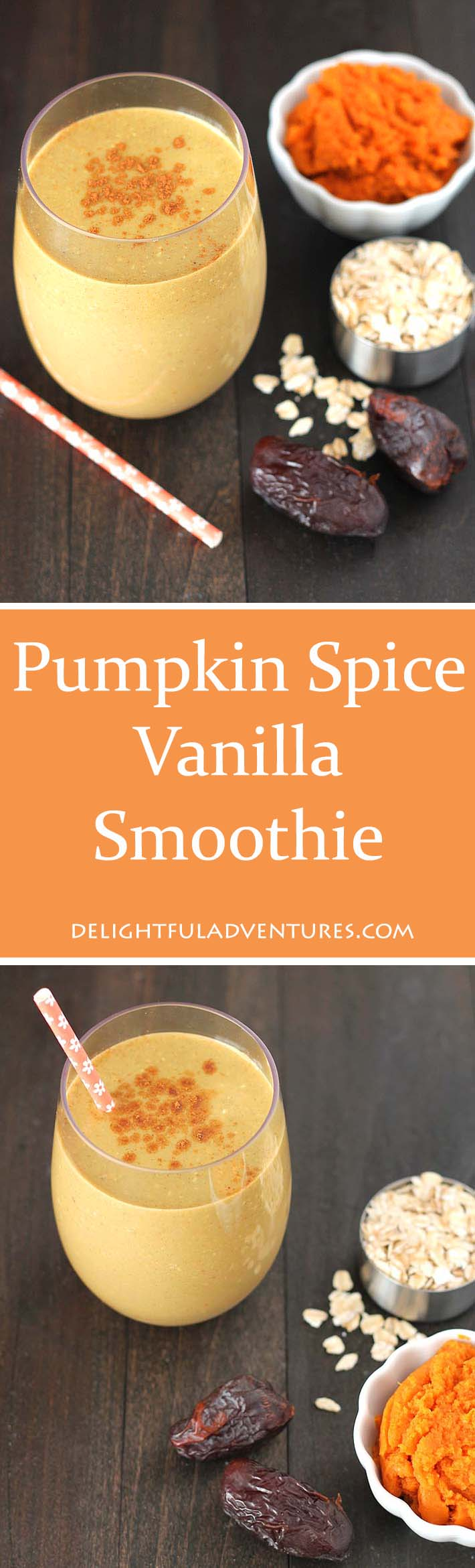 Looking for a healthier version of your favourite coffee drink? Look no further, you've got to try this nutritious, vegan pumpkin spice vanilla smoothie!