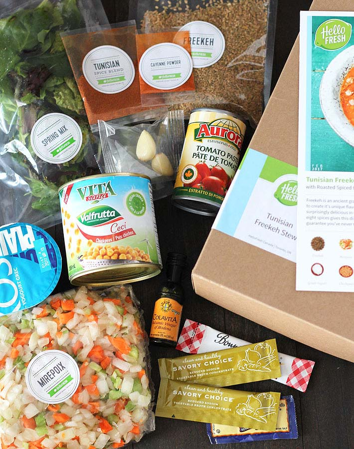 Features For Hellofresh Meal Kit Delivery Service