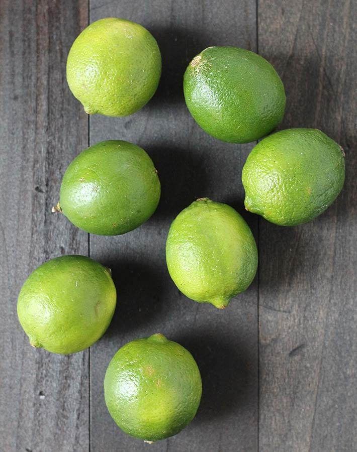Limes used to make this Key Lime Cups recipe found in this post.