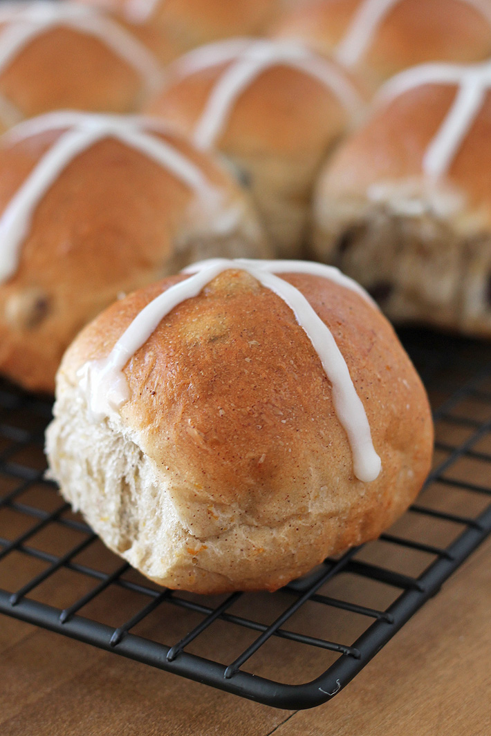 Bake up a batch of these fluffy, perfectly spiced Vegan Hot Cross Buns to make your Easter celebration complete! So good, you'll want to make them all year!