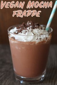 Skip the expensive cafe drink and make your own vegan mocha frappe at home with just 3 ingredients! It tastes just as delicious and will save you money!