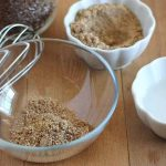 A picture of the ingredients needed to show you how to make a flax egg.