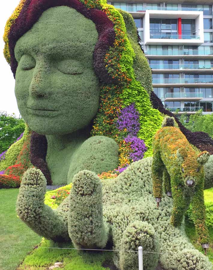 Mother Earth sculpture at MosaïCanada - Family Fun in the Outaouais