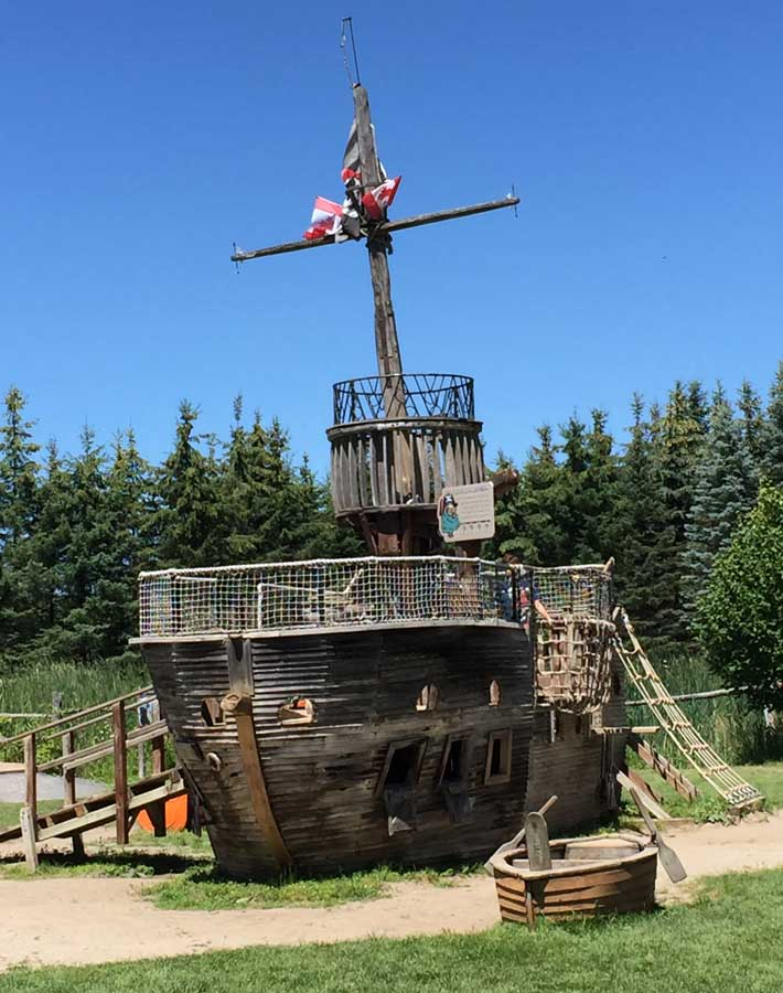 The Pirate Ship Play Structure at Saunders Farm