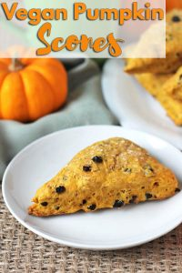 These perfectly spiced and not-too-sweet vegan pumpkin scones will become a new fall (or any time of year!) favourite.