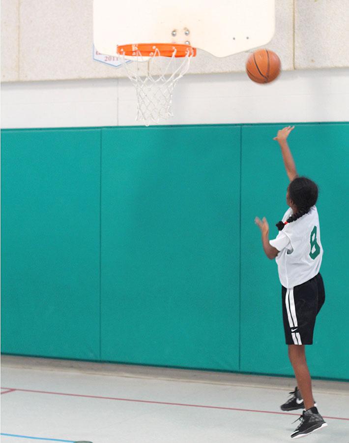 Vegan Snack Ideas for Active Kids plus an Easy Yogurt Dip Recipe: Child shooting basketball into hoop