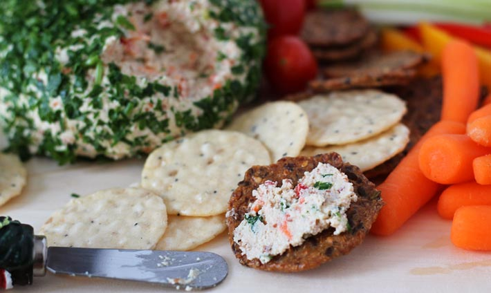 Vegan Vegetable Almond Cheese Ball