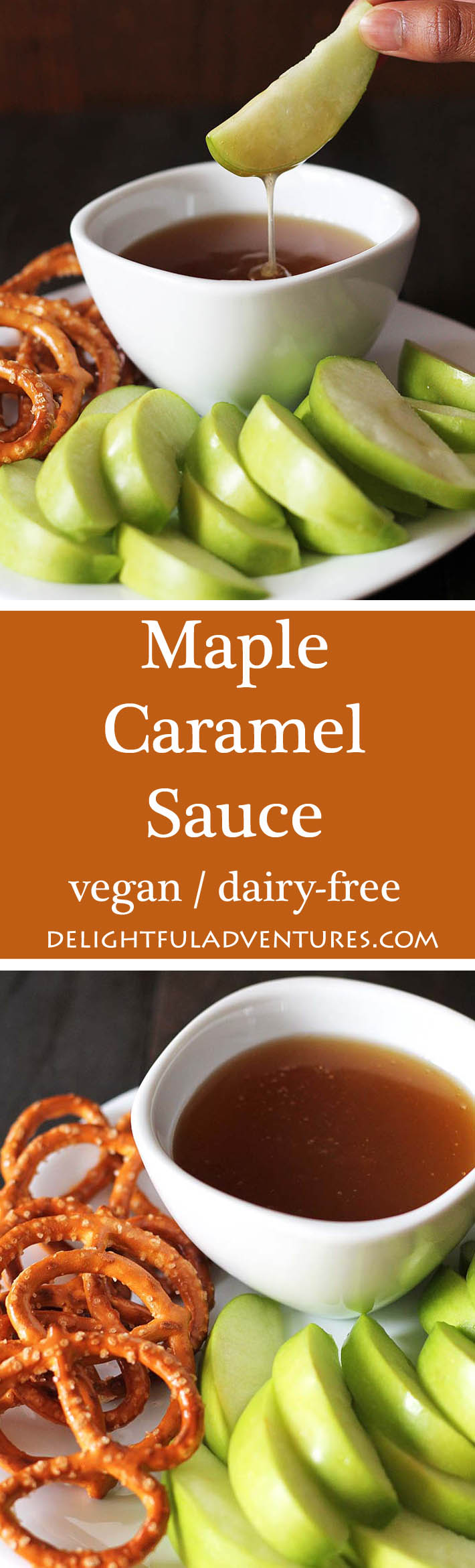 A quick, easy, and decadent maple caramel sauce that you'll want to put on everything from ice cream, sticky toffee pudding, pancakes, waffles and more!