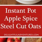 Apple Spice Instant Pot Steel Cut Oats make the perfect easy, warm, and delicious breakfast for cold days and is made in your Instant Pot pressure cooker. Just throw the ingredients in, set it and your tasty oats will be ready in no time!