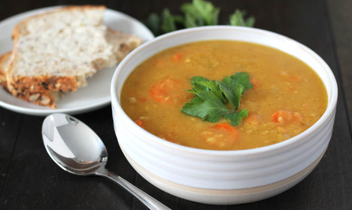 Curried Instant Pot Split Pea Soup