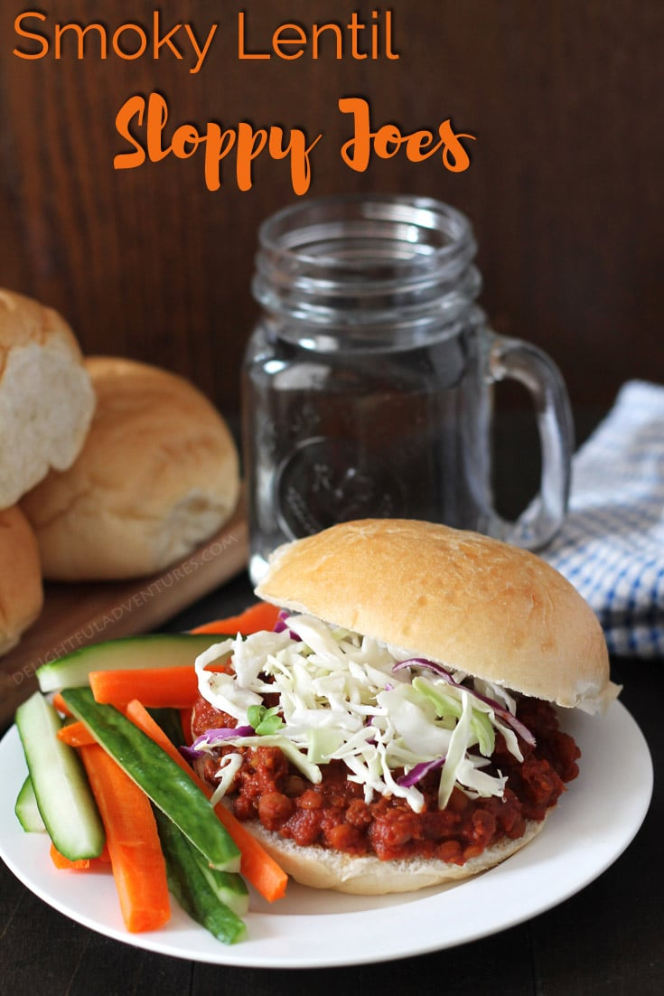 Delicious Smoky Lentil Sloppy Joes that can be made in your Instant Pot, slow cooker, or on the stovetop. Instructions for all methods are included! #lentilsloppyjoes #vegansloppyjoes #vegansandwiches #veganlentilsloppyjoes