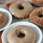 Baked Vegan Doughnuts flavoured with warm chai spices are the perfect treat to make and serve as snacks or to enjoy with your afternoon chai tea.