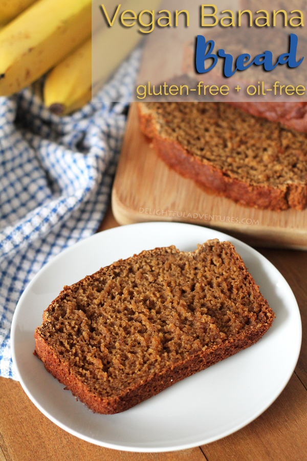 Not only is this vegan gluten free banana bread delicious, it's also oil-free, super easy to make, and can be customized with your favourite add-ins! #veganbananabread #glutenfreebananabread #oilfreebananabread #healthybananabread