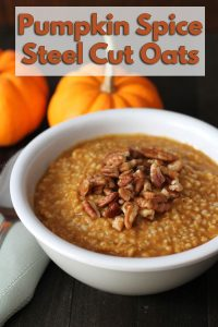Easy pumpkin steel cut oats recipe you can make in your Instant Pot pressure cooker or on the stove top. It's perfectly spiced and ideal for chilly mornings.