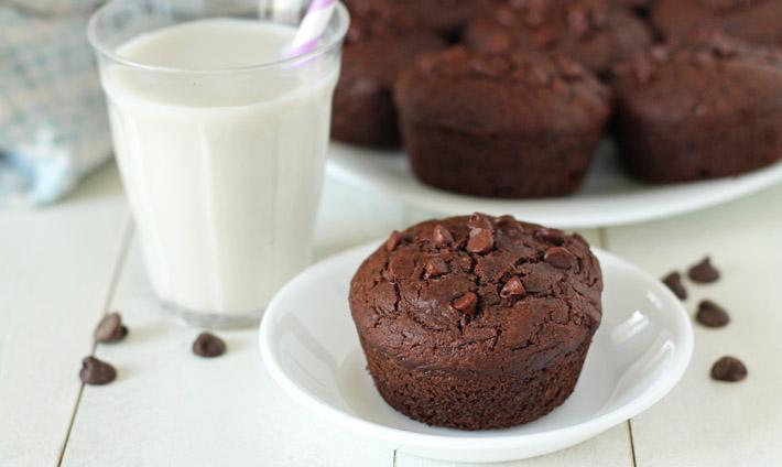 Gluten Free Chocolate Zucchini Muffins (Vegan)