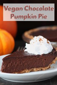 Looking for a dessert that's a little different this holiday? Try this rich vegan chocolate pumpkin pie that's packed with chocolaty, pumpkin flavours.