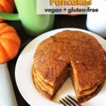 Treat your family to a batch of easy-to-make, fluffy vegan gluten free pumpkin pancakes. They're packed with pumpkin spice flavour everyone will love.