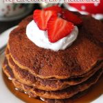 Easy Gluten Free Vegan Gingerbread Pancakes that are perfectly spiced and make a festive addition to your holiday table (they're also great to enjoy year-round!)