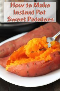 This is the quickest, easiest, no-fail way to make Instant Pot Sweet Potatoes! Your sweet potatoes will always be smooth, creamy, & quicker than baking.