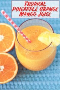 This easy-to-make, refreshing pineapple orange mango juice is just what you need when you're looking for a tropical juice recipe to brighten your day!