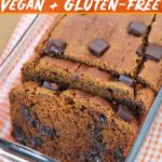 Gluten free sweet potato bread that's loaded with chocolate and warm, fragrant spices. Not only is this recipe easy to make, it's also vegan and filled with flavor.