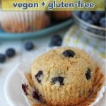 Fluffy vegan gluten free blueberry muffins loaded with sweet, juicy blueberries (fresh or frozen!). They're very easy to make, and of course, delicious.