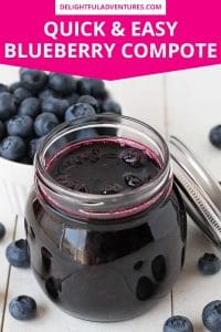 An easy blueberry compote recipe that can be used to top all of your favourite desserts, pancakes, and waffles. This berry compote is simple to make, and can be made with fresh or frozen berries.