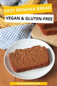 Not only is this vegan gluten free banana bread delicious, it's also oil-free, super easy to make, and can be customized with your favourite add-ins!