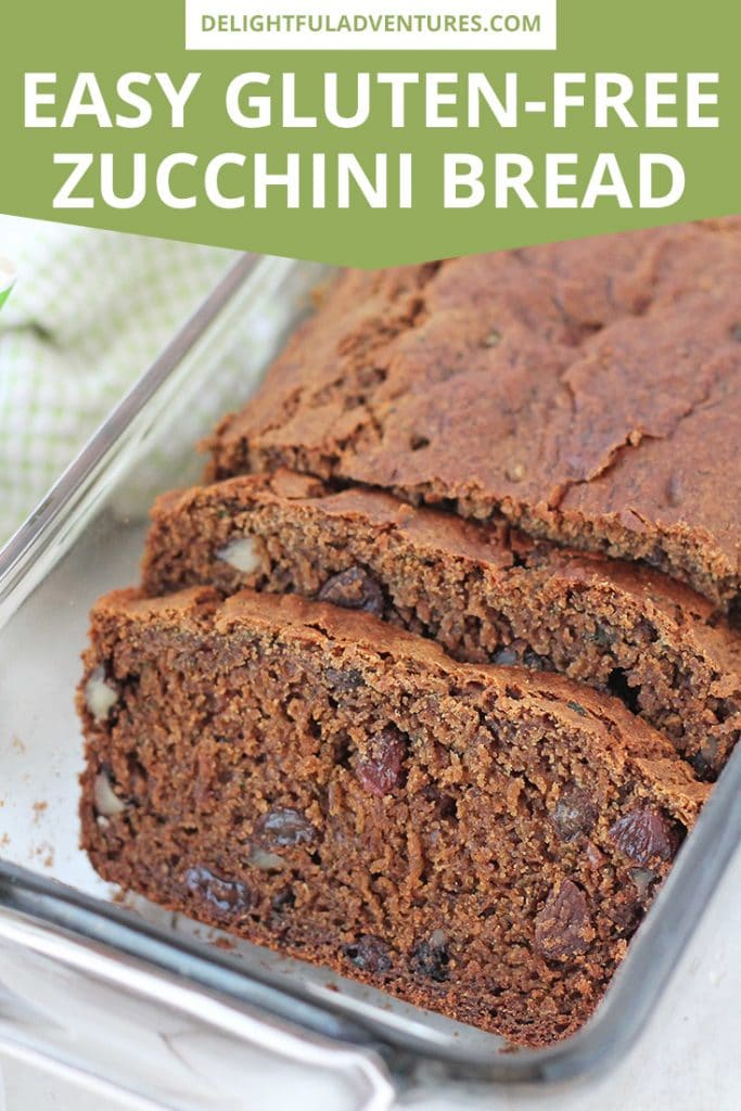 Moist, delicious, and not-too-sweet vegan gluten-free zucchini bread that's super easy to make and can be customized with your favourite add-ins like nuts, chocolate chips, or raisins.
