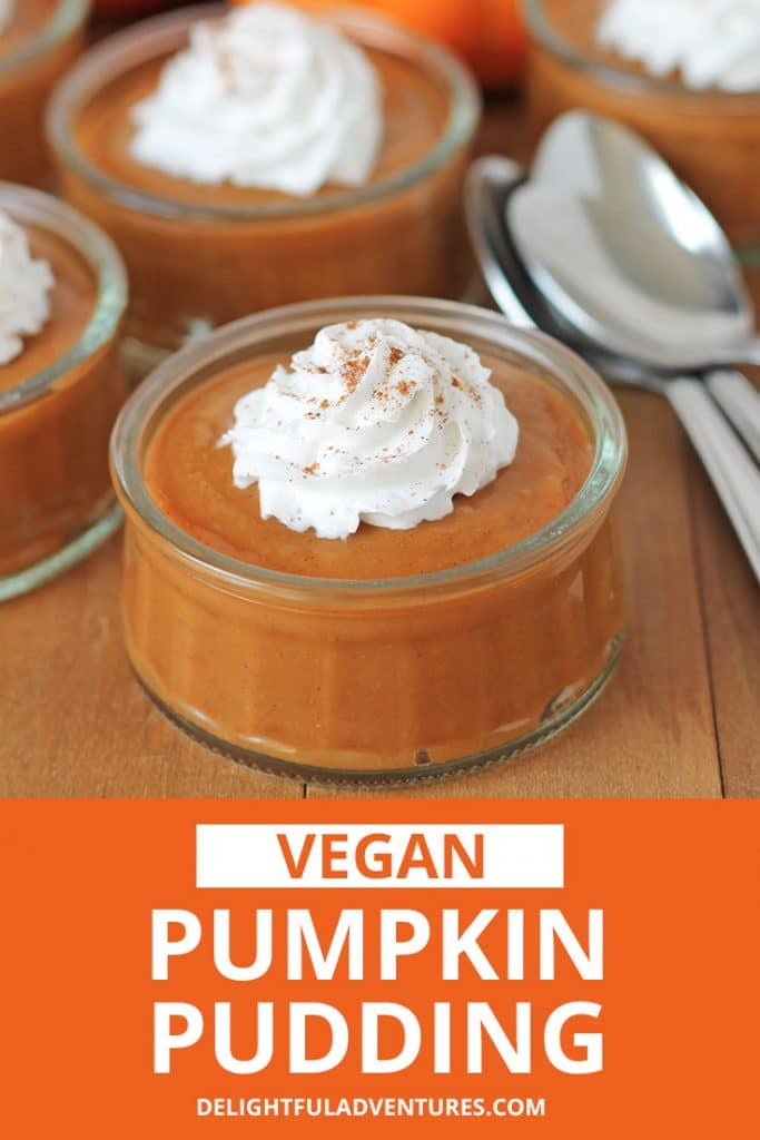 This dairy free pumpkin pudding recipe is going to quickly become a new fall favourite! Top it with coconut whipped cream or serve it on its own. It's a simple egg free pumpkin dessert that takes a short amount of time to prepare and will make everyone happy.