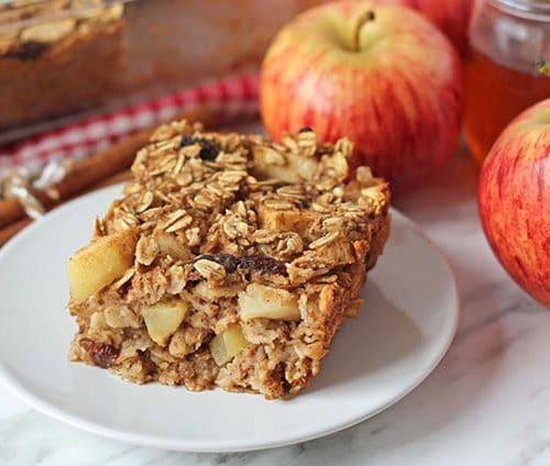 Vegan Baked Oatmeal With Apples Cinnamon Delightful Adventures